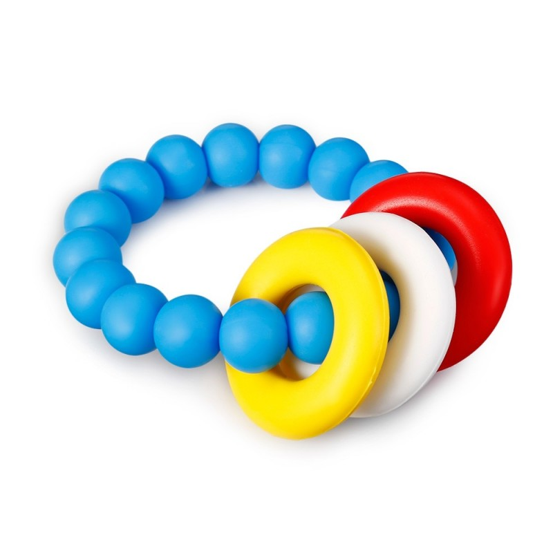 YJ001 Bracelet Silicone Teething Phase Toy for Infants Children - Deep Sky Blue - 4510495713