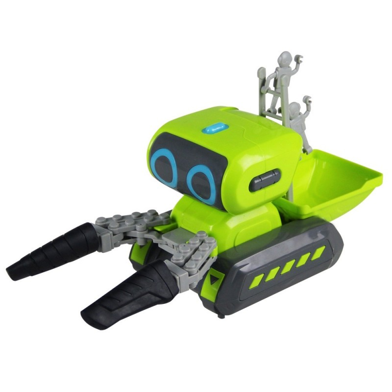 968 Intelligent Space Handling Engineering Vehicle Programming Robot Car - Yellow Green - 5O58189912