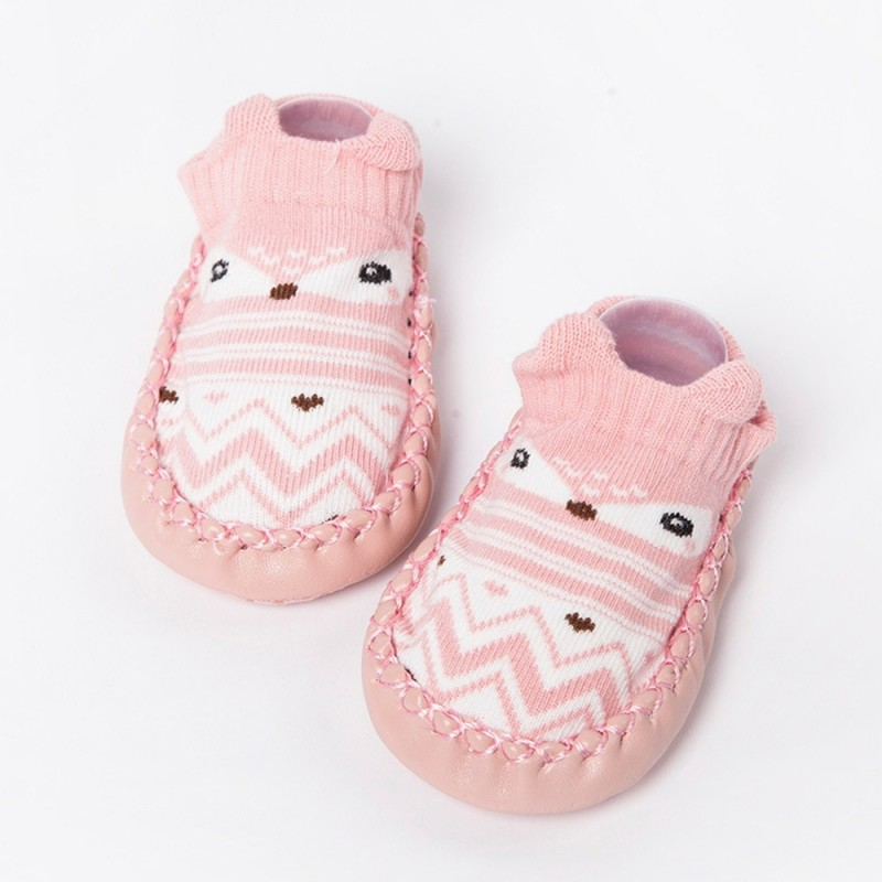 Non-Slip Stereo Cartoon Children'S Floor Socks Baby Shoes and Socks - Pink - 4B77119725