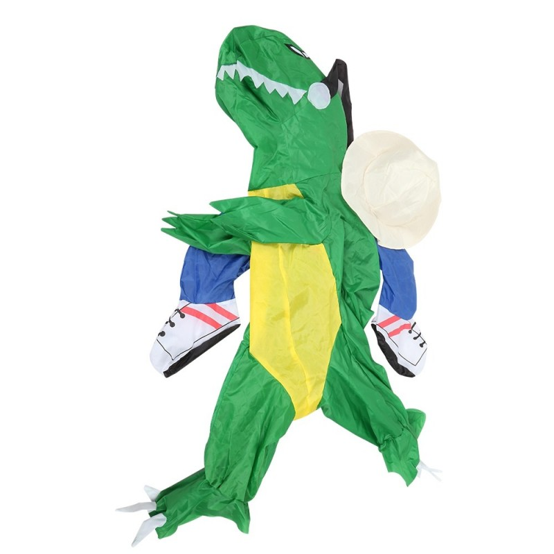 Dinosaur Costume Theme Party Halloween Walking Inflatable Outfit for Children - Green - 3F81056612