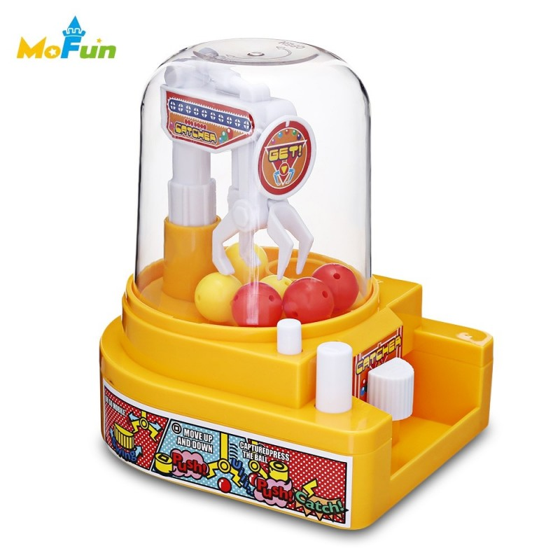 HC0025 Creative Mini Candy Grabber Catcher Small Ball Crane Machine - Yellow - 3T02160313