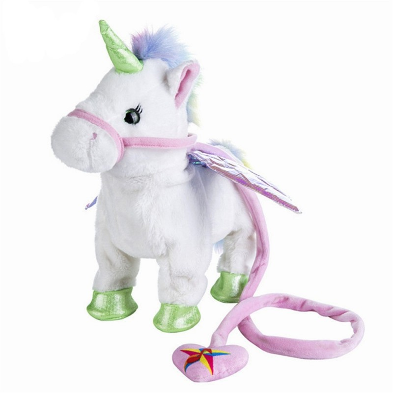 Electric Walking Unicorn Stuffed Animals Plush Musical Pony Toy - Multi-C - 4N40781514