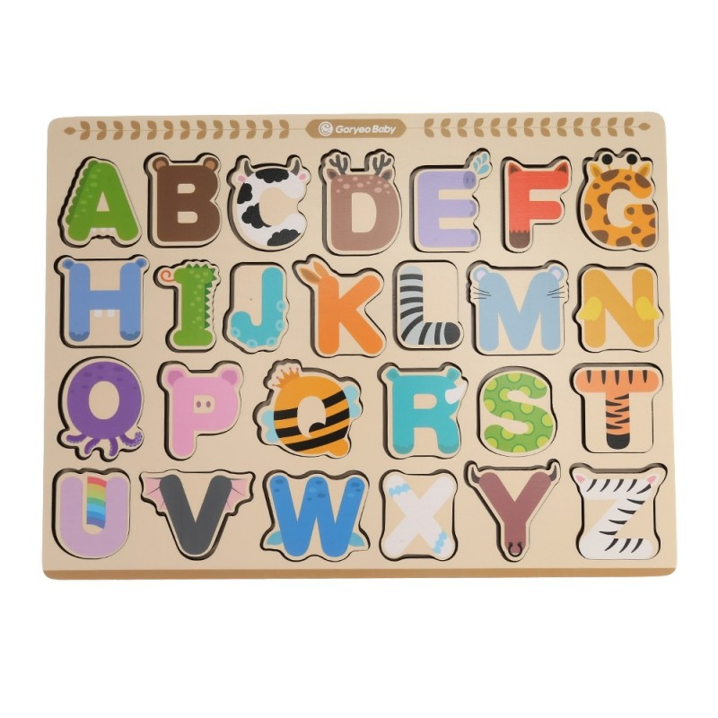 GoryeoBaby Wooden Numbers Cognitive Puzzle Board - Multi-B - 3W74835413