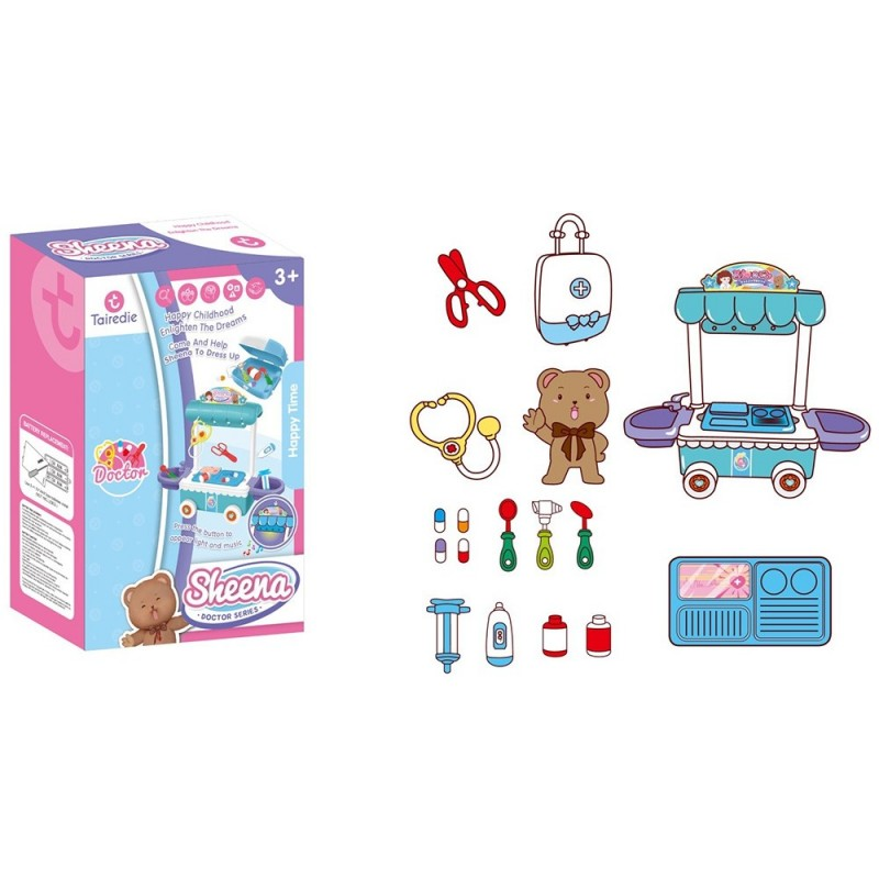 T2002B Electric Doctor Doll Operating Table Play House Toy - Multi-B - 4K86351513