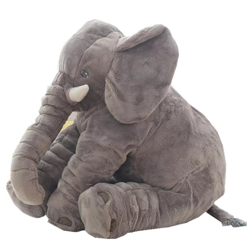 Infant Soft Appease Elephant Playmate Calm Doll Baby Toy - Gray Wolf - 3688262812