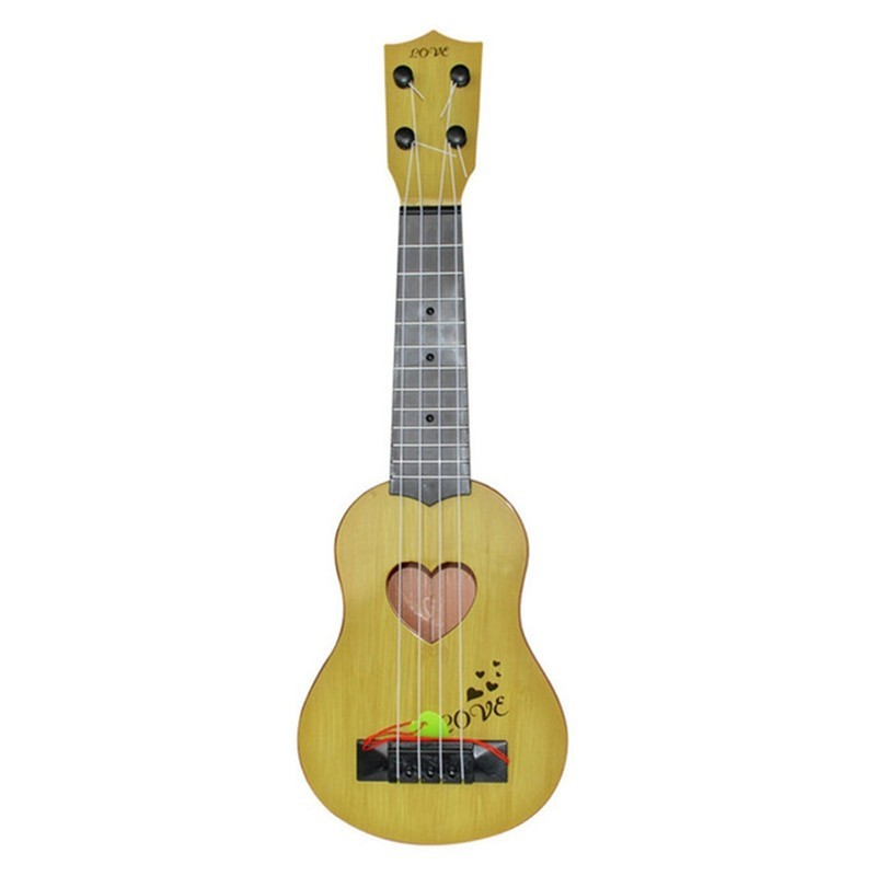 Mini Classical Ukulele Guitar 4 Strings Educational Musical Instrument Toy - Yellow - 5B10087314