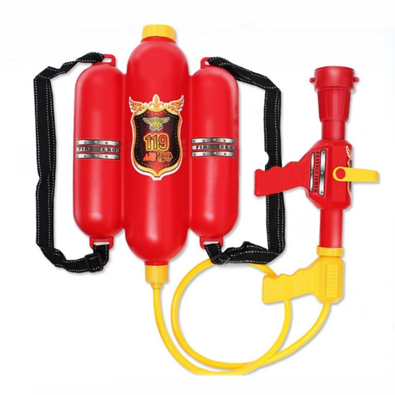 Kids Cute Outdoor Super Soaker Blaster Fire Backpack Pressure Squirt Pool Toy - Multi-A - 2I94644812