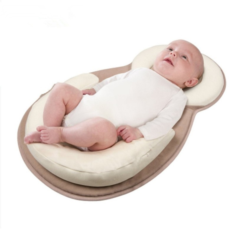 Baby Crib Travel Folding Portable Infant Multifunction Bed Newborn Care - Warm White - 3X75327912
