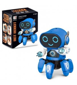 Six-claw Music Dancing Electric Robot for Children - Blue - 5T52438914