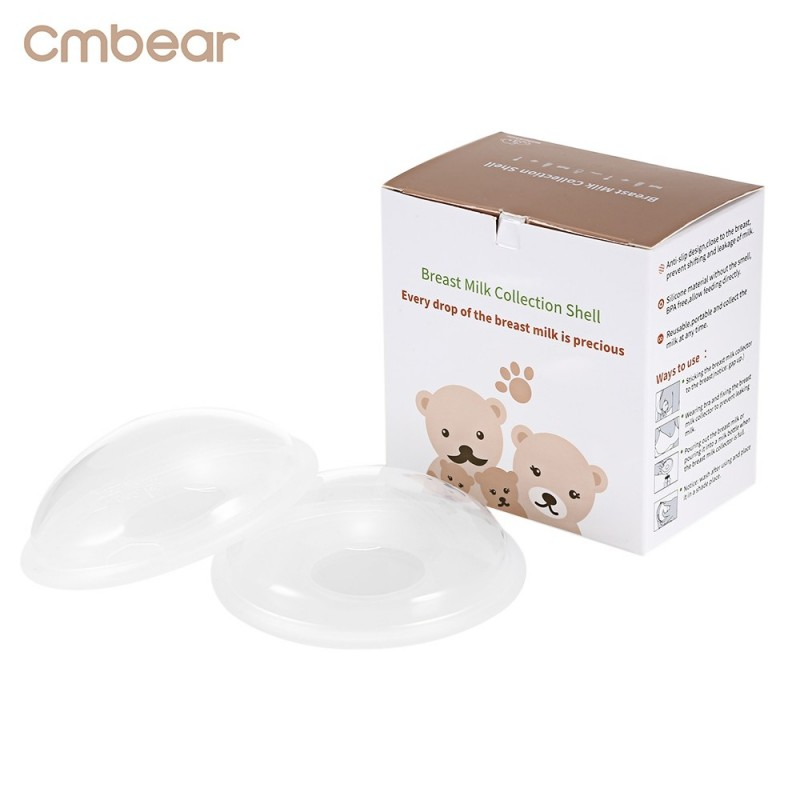 Cmbear 2pcs Breast Milk 10ml Reusable PP Collector Shell - Transparent - 3F72695012