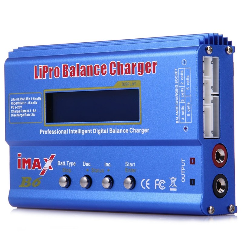 iMAX B6 LCD Screen Digital RC Lipo NiMh Battery Balance Charger - Blue - 2167967812