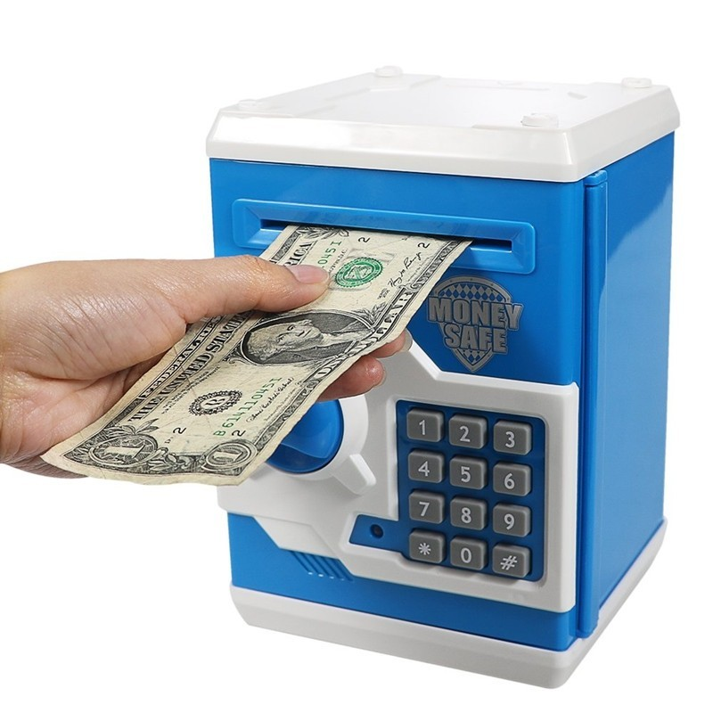 Mini ATM Money Box Safety Electronic Password Coin Cash Deposit Machine - Multi-B - 4R91158213