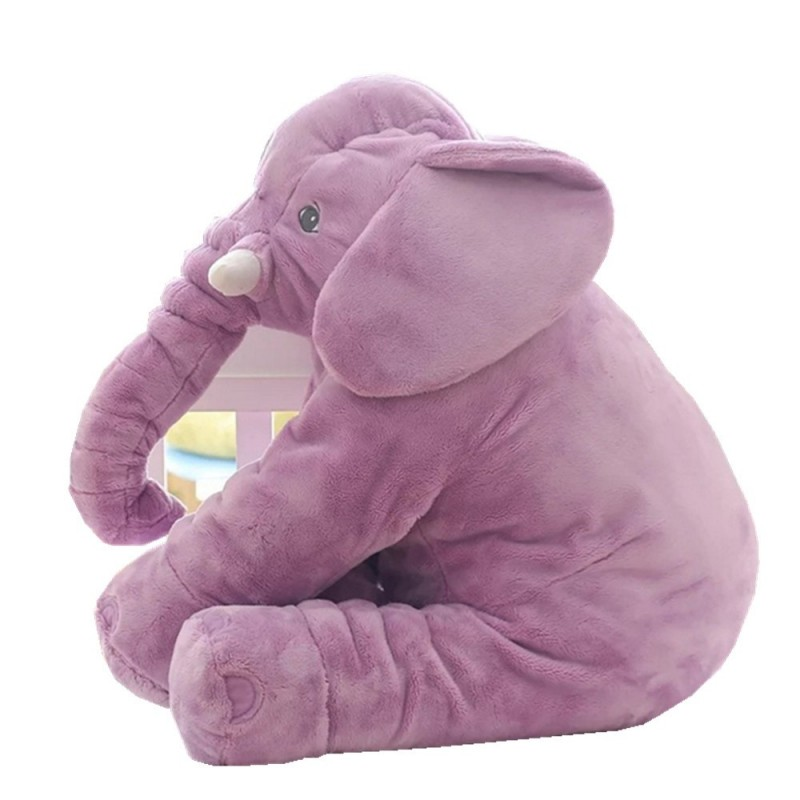 Infant Soft Appease Elephant Playmate Calm Doll Baby Toy - Mauve - 3F88262815