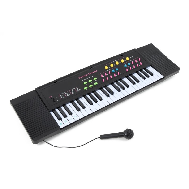 Children 44-key Middle Electronic Keyboard with Microphone - Black - 3Y06770512