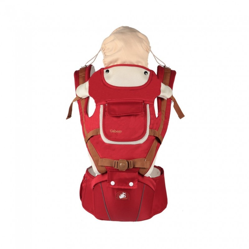 Multifunctional Breathable Baby Carrier Infant Baby Sling Pouch - Claret - 3N62300913