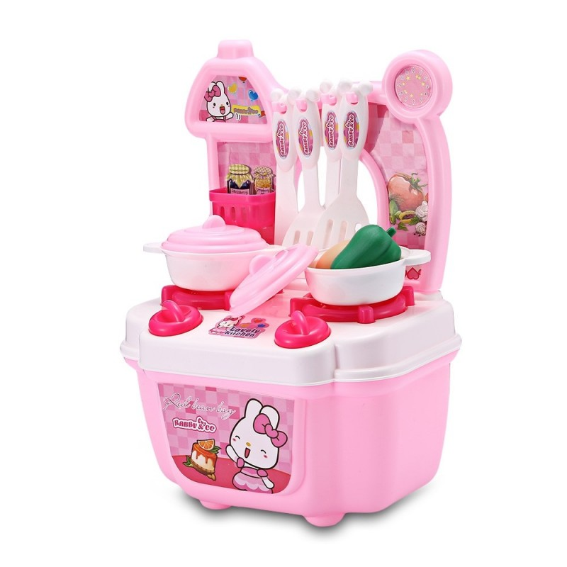 No.872 Kids Household Playset Children Kitchen Cooking Set Simulation Toy - Pink - 4610576212