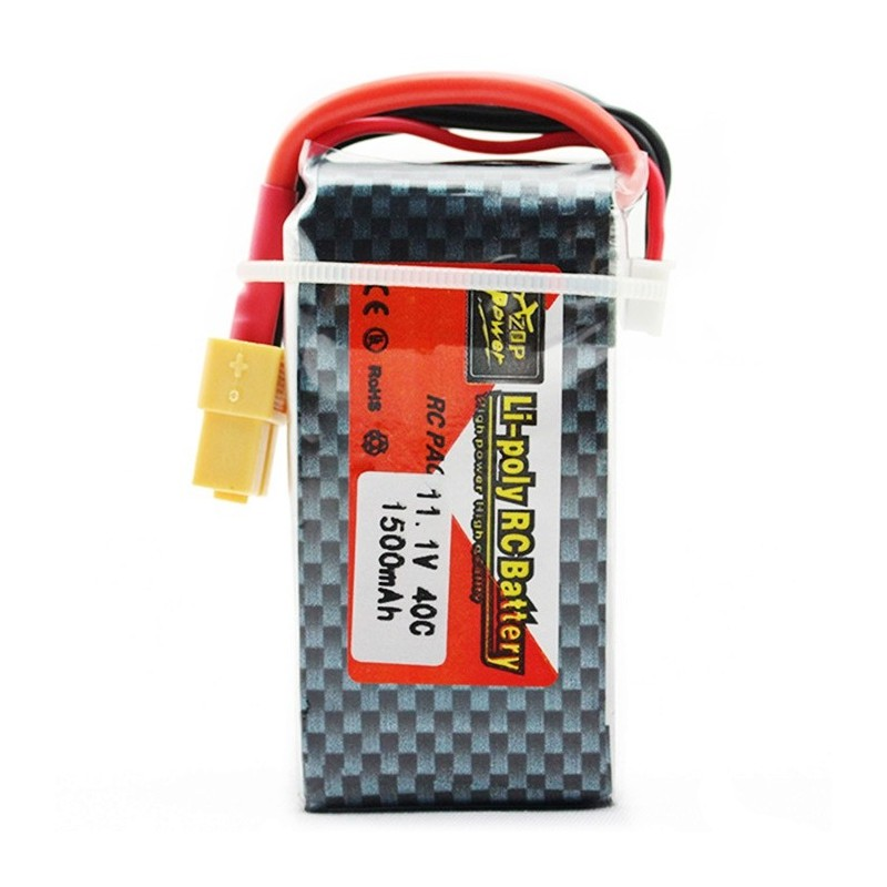 ZOP Power ZOP 1500mAh 11.1V 40C Battery for RC Airplane XT60 Plug - Colormix - 2Q89596512