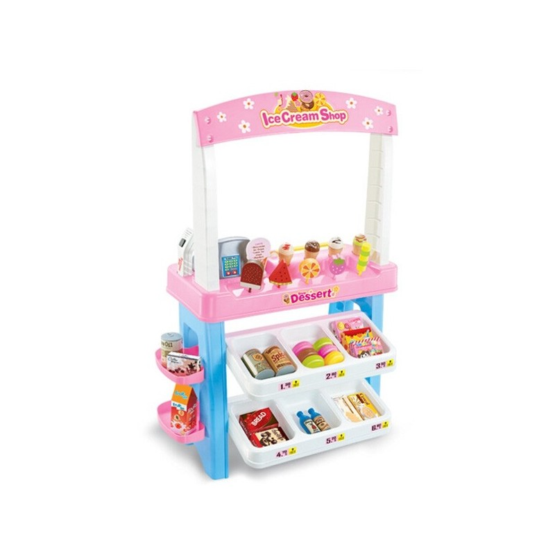 Simulation Ice Cream Sale Car Children Toy - Pink - 3D87580812