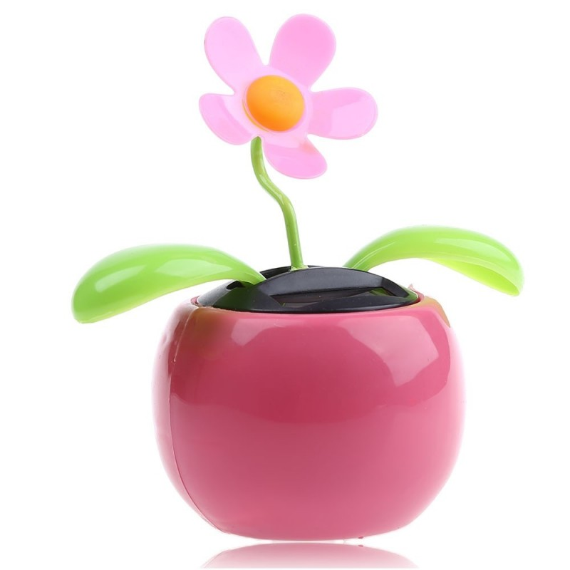 Solar Energy Shaking Apple Blossom Sunflower House Decoration Christmas Gift - Pink - 2Y60372116