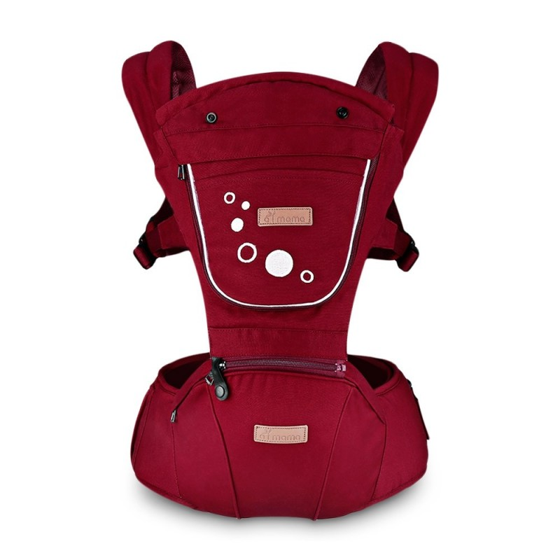 Hip Seat Newborn Waist Stool Baby Carrier Infant Sling Backpack - Chestnut Red - 3R94519313