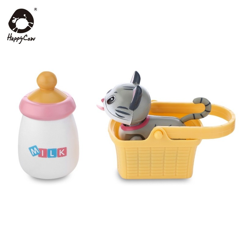 HAPPYCOW No.777 - 263 Baby Pet Sucking Milk Cat Electronic Induction Feeding Toy - Gray Cloud - 4M80048412