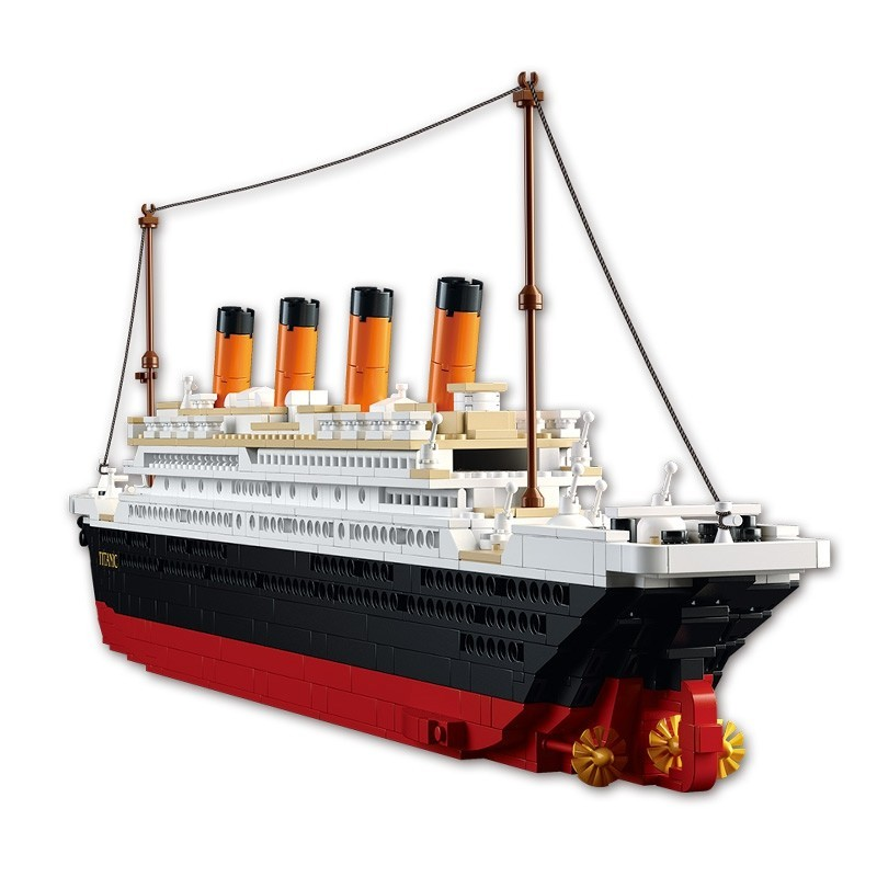 Sluban Building Blocks Educational Kids Toy Big Titanic 1012PCS - Colormix - 3863691612