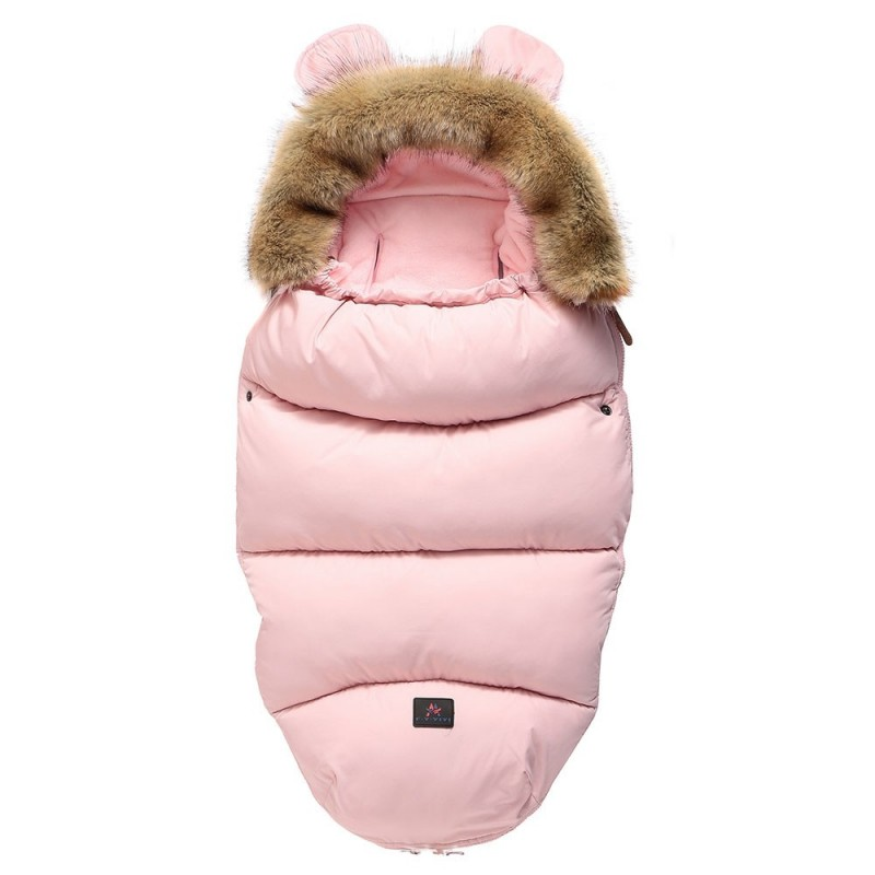 FYSD - 18 - 1129 Thicken Warm Baby Anti Kicking Sleeping Bag ( with Fur Collar ) - Pink - 5P46480113