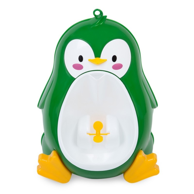 Separable Suspensible Lovely Penguin Shape Boys Standing Urinal - Green - 2K97070013