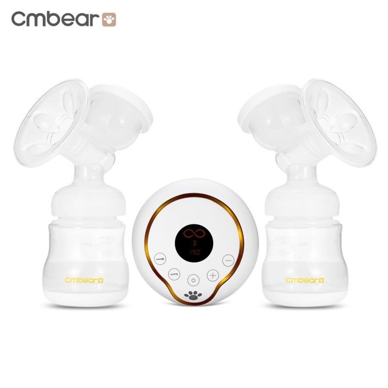 Cmbear PP USB Unilateral Double Breastfeeding Breast Pump - White - 3539634312