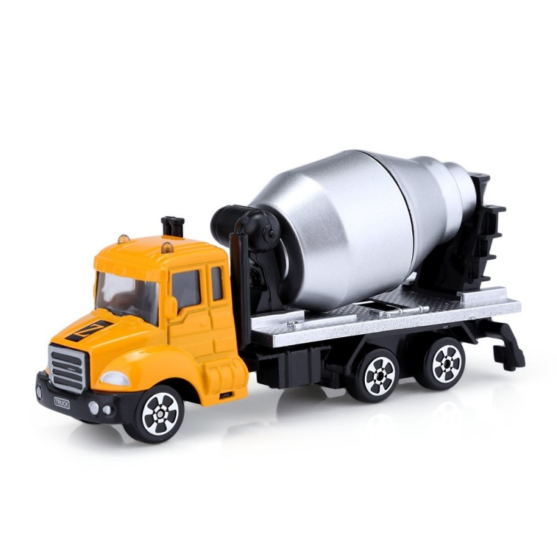 Kids Alloy 1:64 Scale Concrete Mixer Truck Emulation Model Toy Gift - Earthy - 3Q16503212