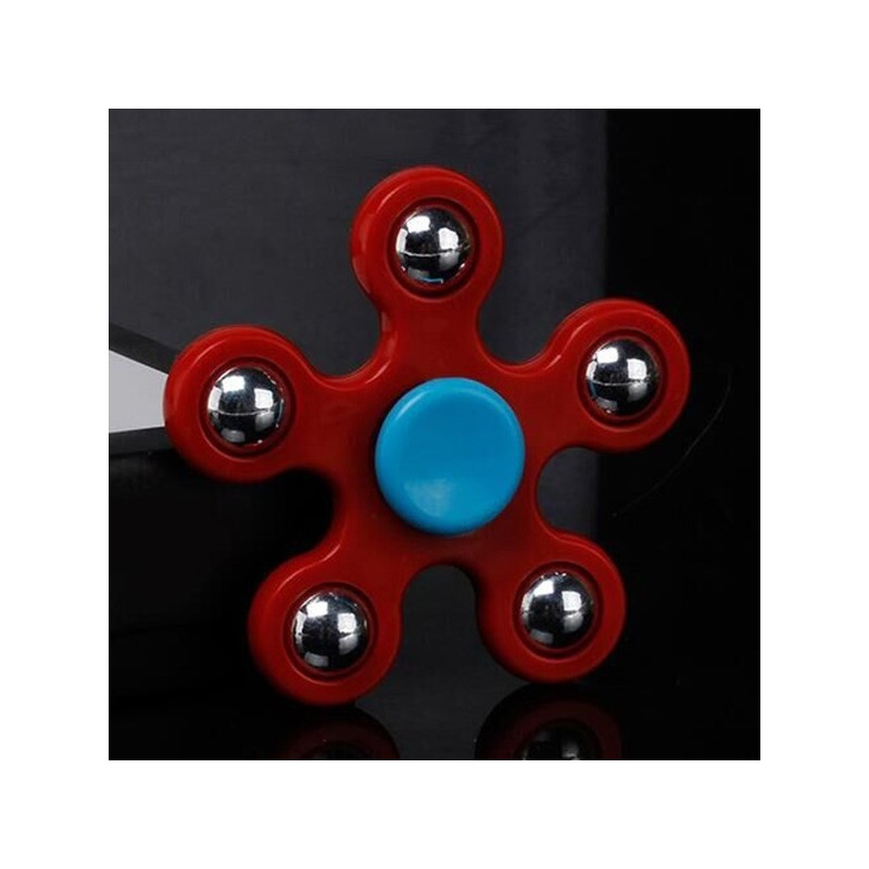 Stress Relief Toy Ball Bearing Fidget Spinner - Red - 3T23694212