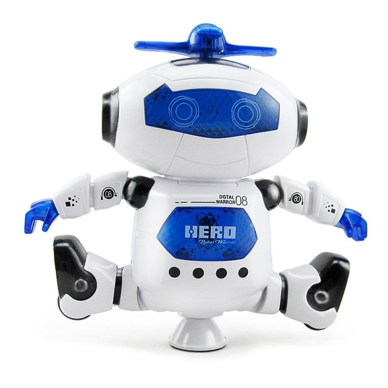 Kids Electronic Walking Dancing Robot with Music Light Fun Toy - Blue - 3515646412