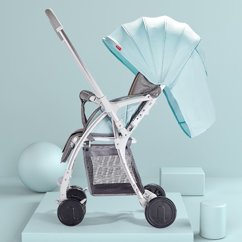 A817 Two-way High Landscape Light Baby Stroller - Light Slate - 5M53274018