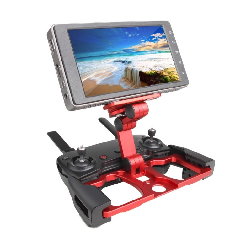 Remote Controller Smartphone Tablet Clip Holder for DJI MAVIC PRO AIR Spark - Ruby Red - 3Z89327512