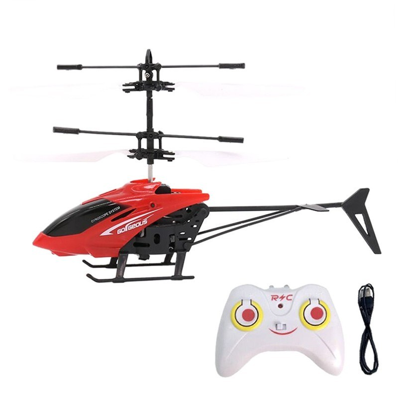 Flashing Light Induction Helicopter Toy for Kids - Red - 3V48562212