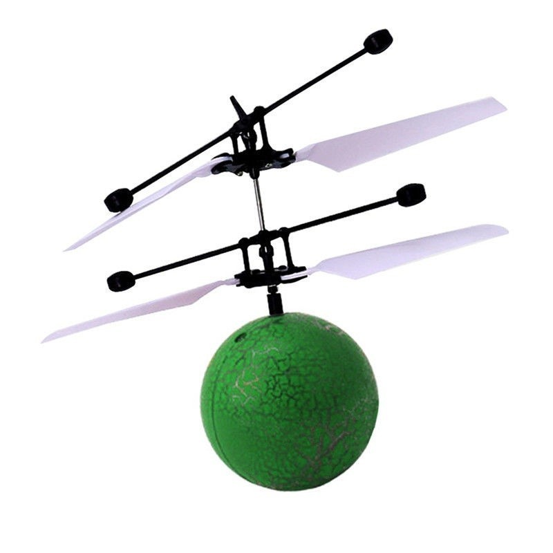 Infrared Induction Flying Ball Toy Helicopter for Kids - Green - 3B48326013