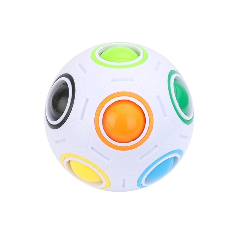 Football Cube Magic Rainbow Ball Puzzle Relief Toys - Multi - 3Y82223212
