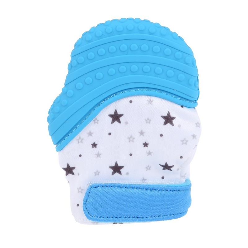 Silicone Baby Glove Teether Infant Nursing Mitten - Blue - 3K73081512