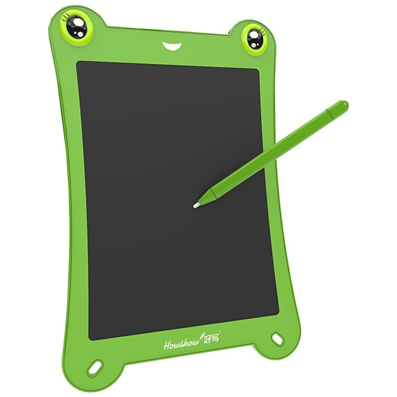 8.5 inch LCD Writing Tablet Digital Handwriting Drawing Board Frog Shape with Stylus Pen - Green - 5P55976014