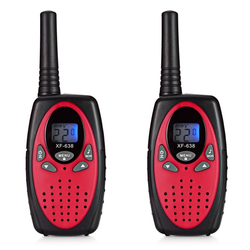 2pcs XF - 638 22 Channel Travel Handheld Walkie Talkie Kids Portable 2 Way Transceiver - Red Fox - 3F87073513