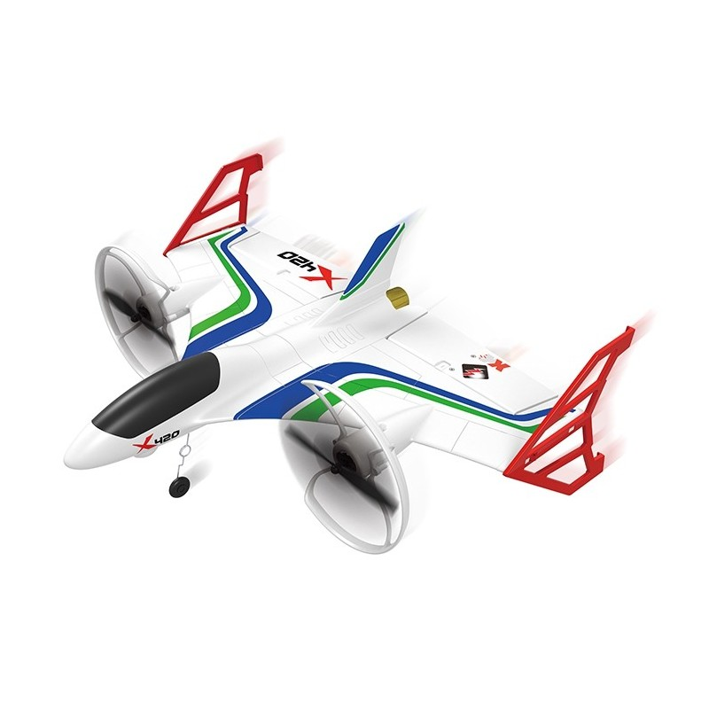 XK X420 2.4G 3D6G 6CH 420mm Take-off Landing EPP Aerobatic RC Airplane RTF - White - 5054379912