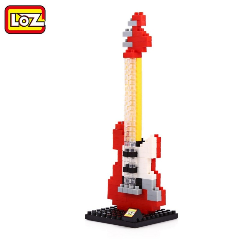 LOZ M - 9192 Tiny Block Red Electric Guitar DIY Educational Toy Gift 150Pcs / Set - Red - 2Q75891912