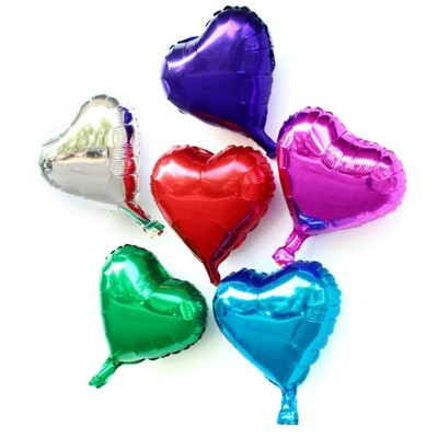 10 inch Heart Shape Foil Balloon Auto-Seal Reuse Party / Wedding Decor Inflatable Gift for Children - Colormix - 2V82252512