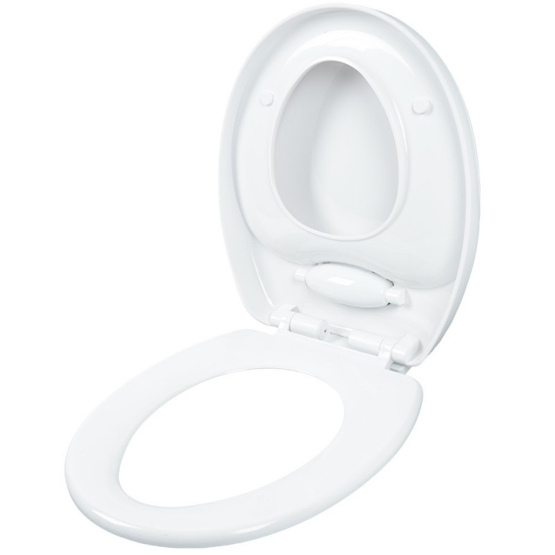 Round Adult Toilet Child Potty Training Seat with Cover - White - 4232077812