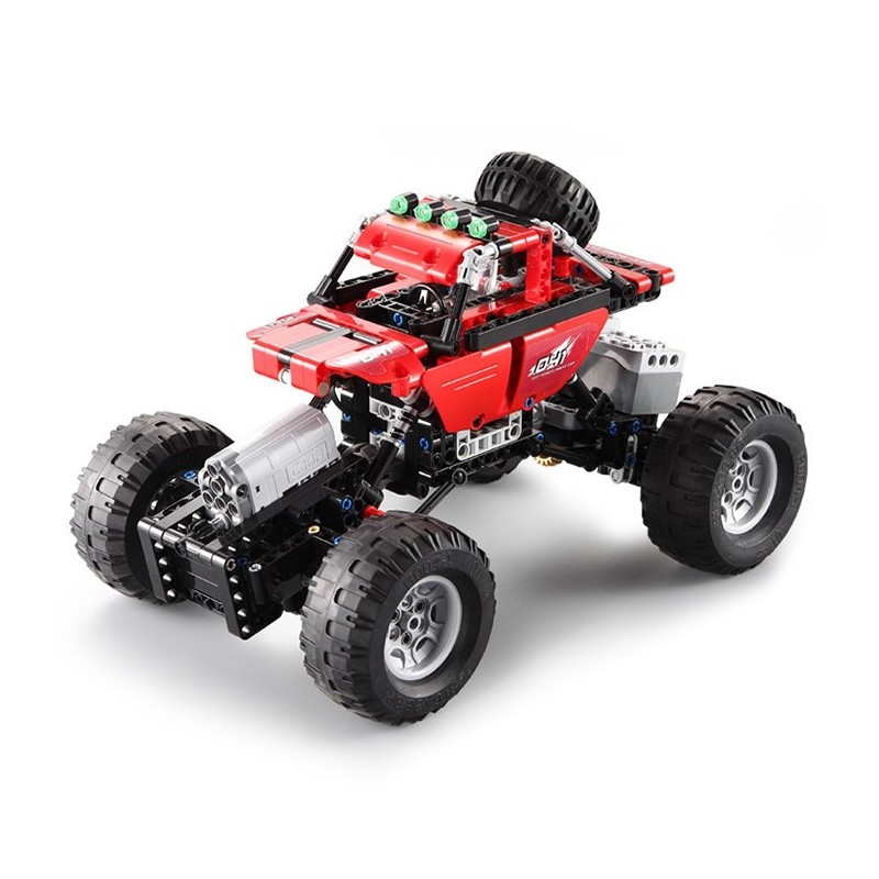 CaDA Assembling Building Blocks Off-road Car Toy with Remote Control - Love Red - 3O87686612