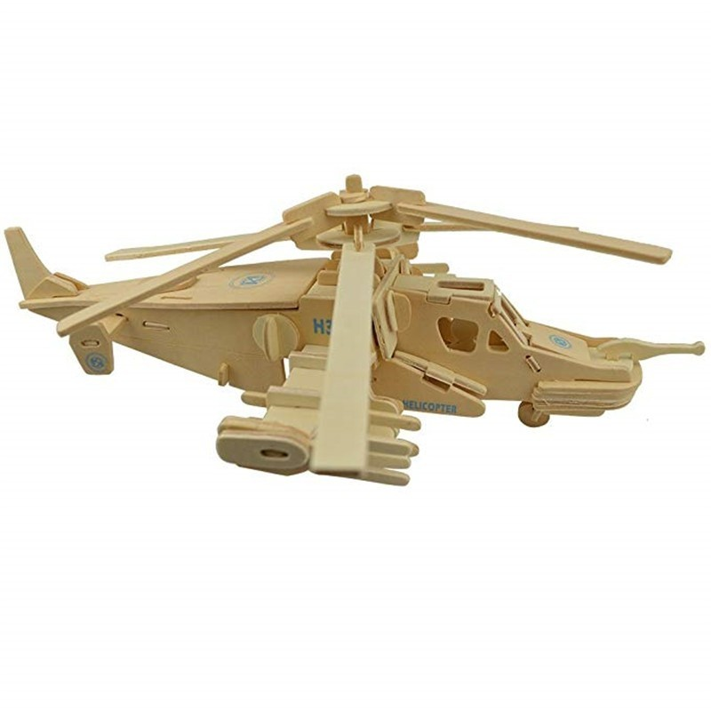3D Wooden Aircraft Puzzle - Wood - 3P84019812