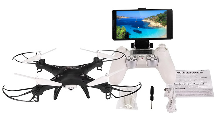SJ X300 - 1CW 2.4GHz 4CH RC Quadcopter Drone WIFI Real-time Transmission with 0.3MP Camera