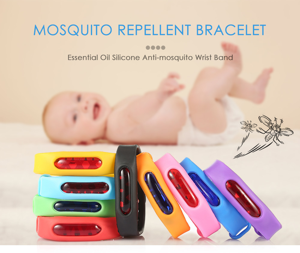 Natural Essential Oil Mosquito Repellent Wrist Band Silicone Bracelet