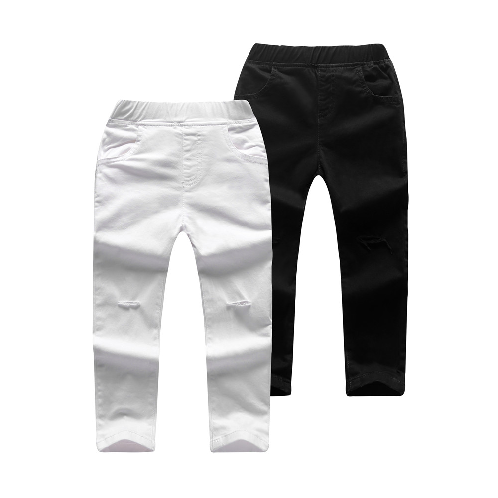 Comfy Solid Pocket Jeans for Kids
