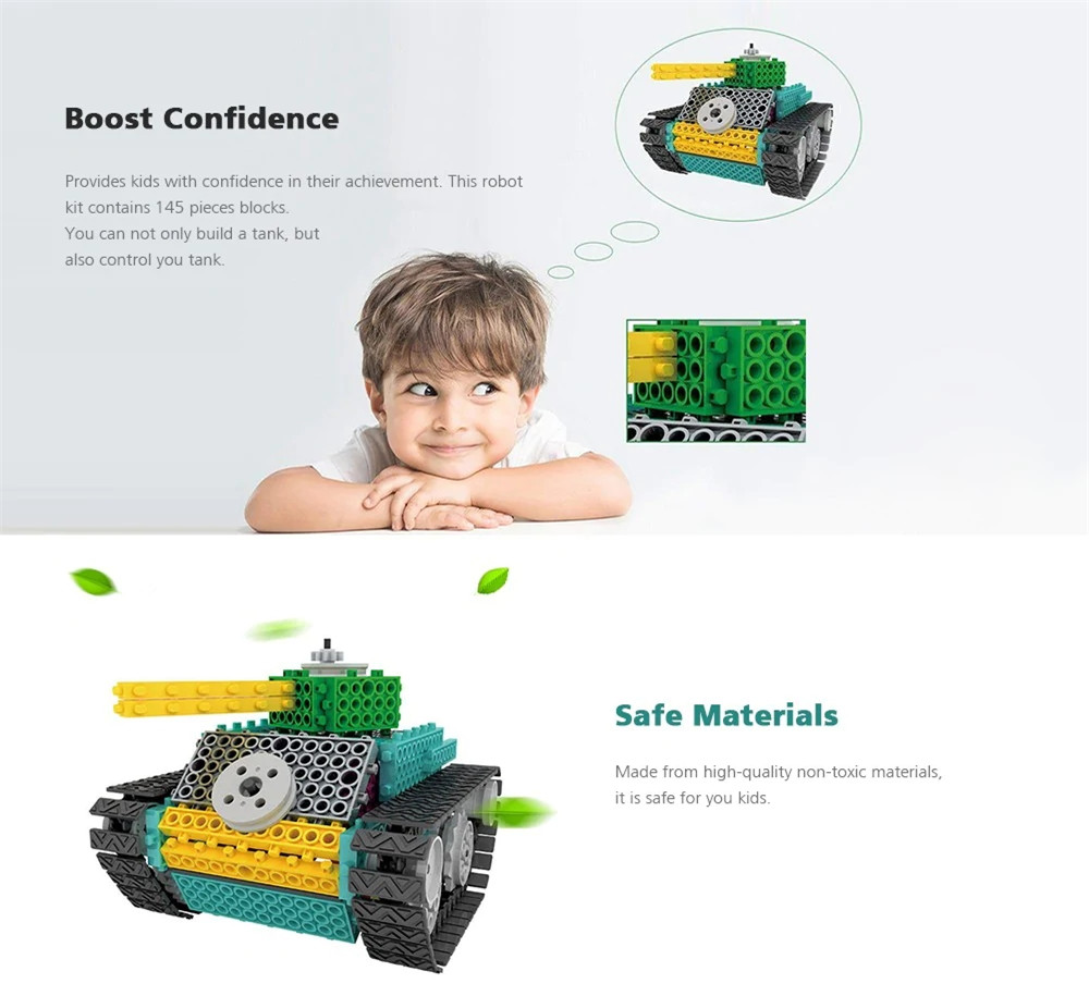 DIY Electric Amount Blocks Tanks Children'S Educational Toy
